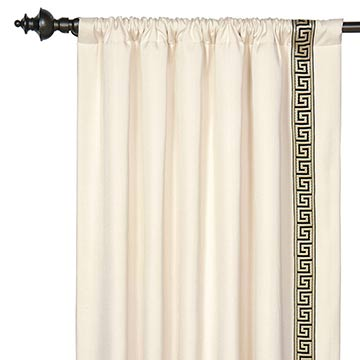 FOLLY PARCHMENT CURTAIN PANEL L