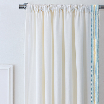 BREEZE SHELL CURTAIN PANEL (LEFT)