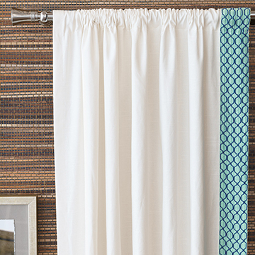 BALDWIN WHITE CURTAIN PANEL (L)