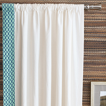 BALDWIN WHITE CURTAIN PANEL (R)