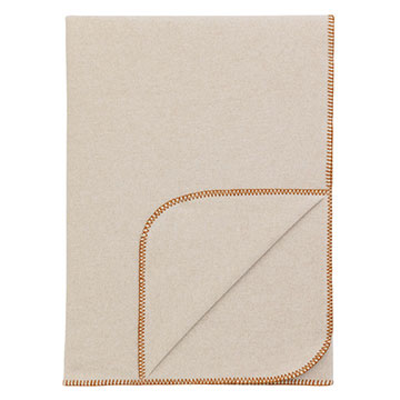 BRERA THROW/RUST BLANKET STITCH